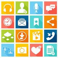 Sociala nätverksikoner vektor