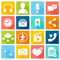 Symbole für soziales Netzwerk