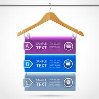 Kleiderbügel Verkauf Infografiken vektor