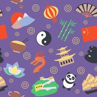 Kinas sömlösa mönster vektor