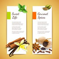 Spice banners vertikala vektor