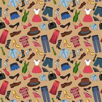 Kläder sömlöst mönster