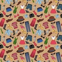 Kleidung nahtlose Muster