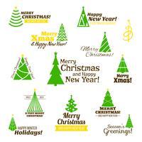 Weihnachtsbaumstempel gesetzt