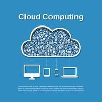 Cloud computing koncept vektor