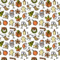 Jul sömlös mönsterfärg vektor