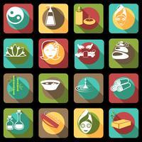 Spa ikoner platt vektor