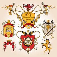 Heraldisk design färgad