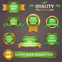 Färgade kvalitetsetiketter