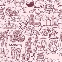 Spa-Skizze nahtlose Muster