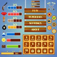 spel gränssnitt design vektor