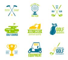 Golf-Label-Set