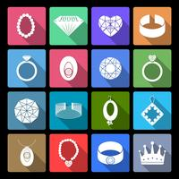 Smycken Ikoner Set vektor