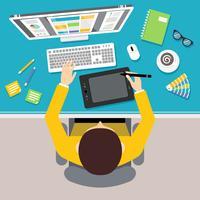 Designer arbetsplats vektor