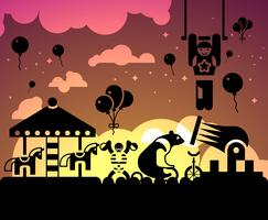 Cirkus natt bakgrund
