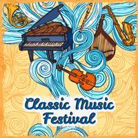 Musikfestival-Poster vektor