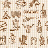 Cowboy sömlöst mönster vektor