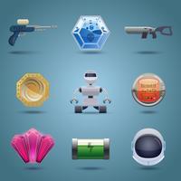 Weltraumspiel Icons