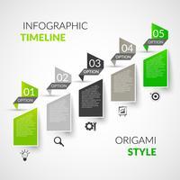 Zeitleiste Infografiken aus Papier