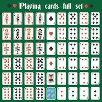 Spielkarten voller Satz