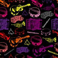 Nahtloses Farbmuster der Musikinstrumente