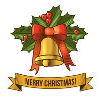Julklocka ikon vektor