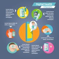 Digital hälsoinfographics vektor