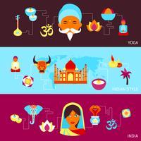 Indien-Fahnensatz
