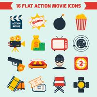 Actionfilm eingestellt vektor