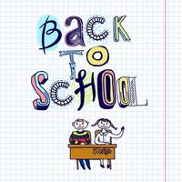 Zurück zu Schulekritzelkonzept
