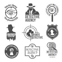 Detektive etikettuppsättning