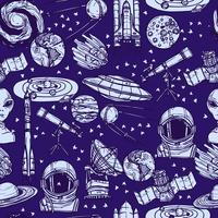 Raumskizze nahtlose Muster