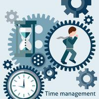 Time management koncept vektor