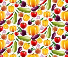 Grönsaker sömlöst mönster