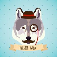Animal hipster porträtt vektor