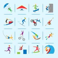 Extremsport ikoner vektor