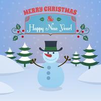 Jul snowman bakgrund