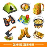 Camping ikoner uppsättning
