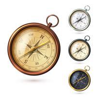 Antiker Kompasssatz vektor