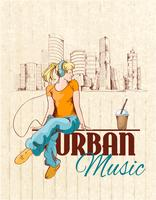 Urban musikaffisch vektor