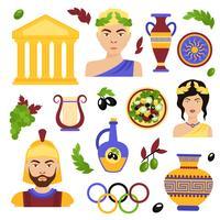 Greklands dekorativa uppsättning