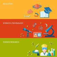 Vetenskaps- och forskningsbanner vektor