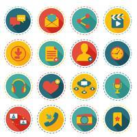 Symbole für soziales Netzwerk vektor