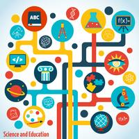 Wissenschaft Baum Infografiken vektor