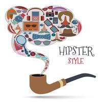 Hipster stilkoncept