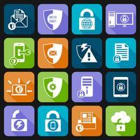 Datenschutz-Sicherheits-Icons