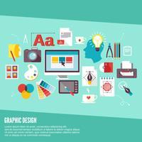 Grafiska designikoner vektor
