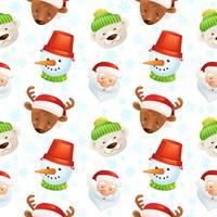 Weihnachtszeichen nahtlose Muster vektor
