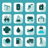 Oljeindustrin ikoner uppsättning vektor