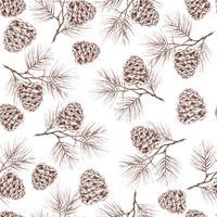 Pine grenar sömlösa mönster